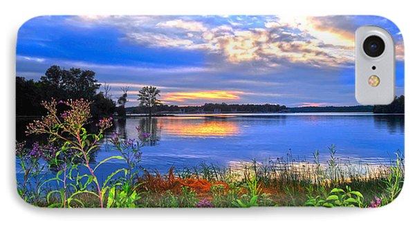 IPhone Case featuring the photograph Summertime Walk Around Lake  by Randall Branham