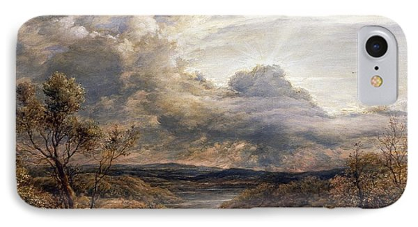 Sun Behind Clouds IPhone Case by John Linnell