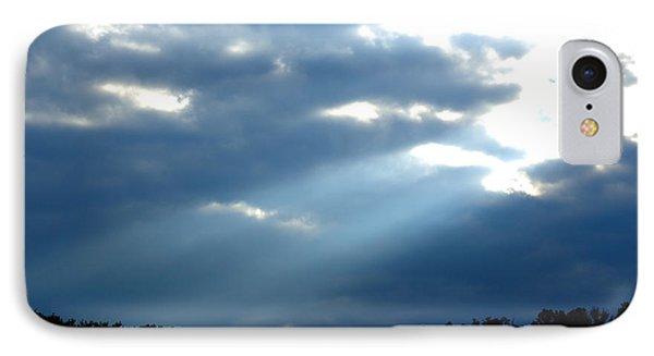 Sun Breaks Through Stormy Sky Phone Case by Thomas R Fletcher