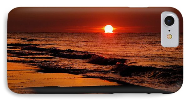 Sun Emerging From The Water Phone Case by Michael Thomas