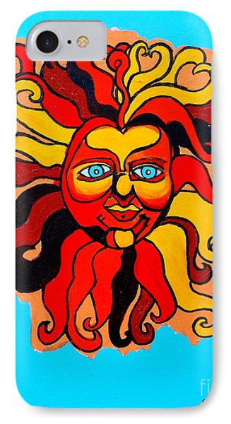 Sun God II Phone Case by Genevieve Esson