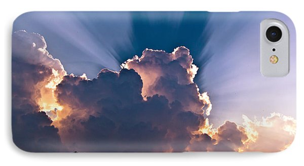 Sun Rays And Clouds Phone Case by Amber Flowers