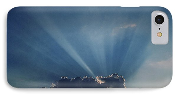 Sun Rays And Cumulus Cloud Phone Case by Pekka Parviainen