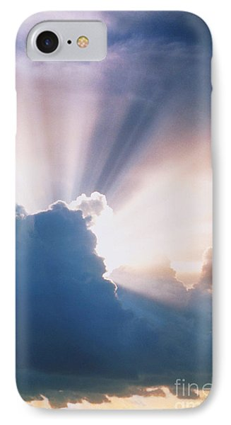 Sun Rays Phone Case by Erich Schrempp and Photo Researchers