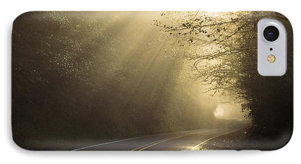 Sun Rays On Road Phone Case by Ron Sanford and Photo Researchers