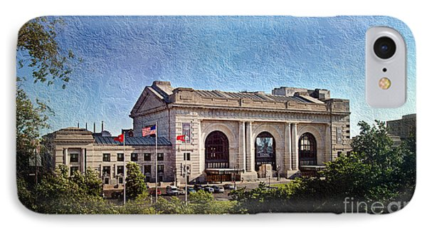 Sun Rising On Union Station In Kansas City Tv IPhone Case by Andee Design