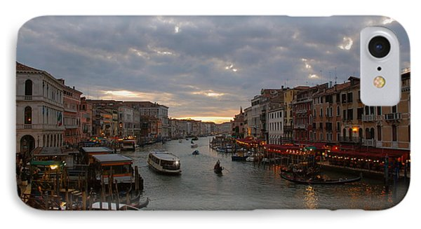 Sun Sets Over Venice IPhone Case by Eric Tressler