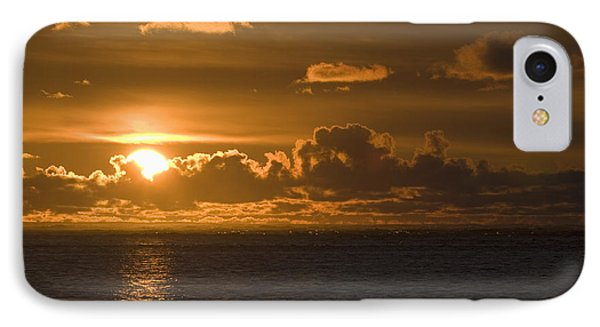 Sun Setting On The Ocean With The Phone Case by Michael Interisano