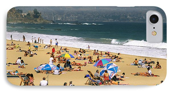 Sunbathers Phone Case by David Frazier and Photo Researchers