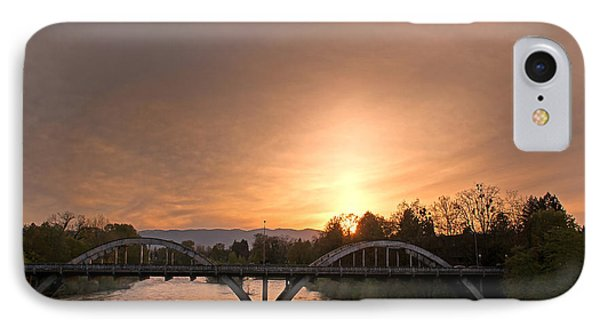 Sunburst Sunset Over Caveman Bridge IPhone Case by Mick Anderson
