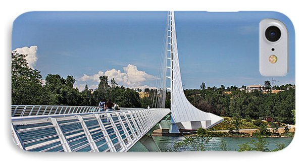 Sundial Bridge - Sit And Watch How Time Passes By Phone Case by Christine Till