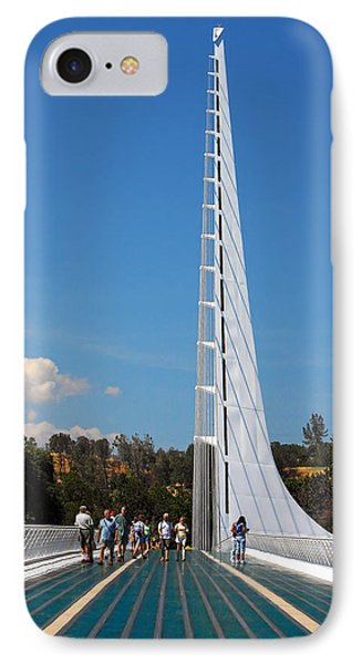 Sundial Bridge - This Bridge Is A Glass-and-steel Sculpture Phone Case by Christine Till