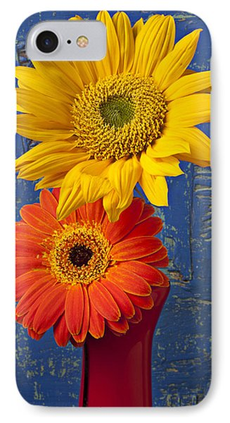 Sunflower And Mum Phone Case by Garry Gay