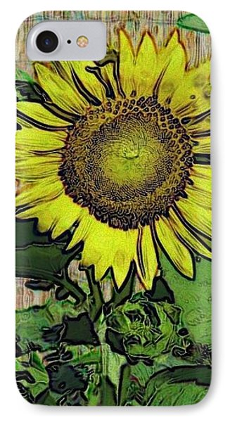 Sunflower Face IPhone Case by Alec Drake