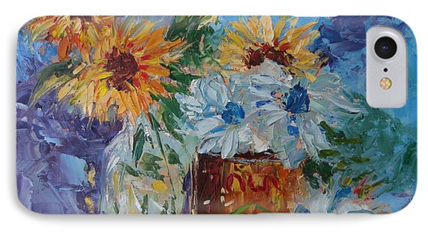 Sunflower Still Life Two IPhone Case by Carol Berning