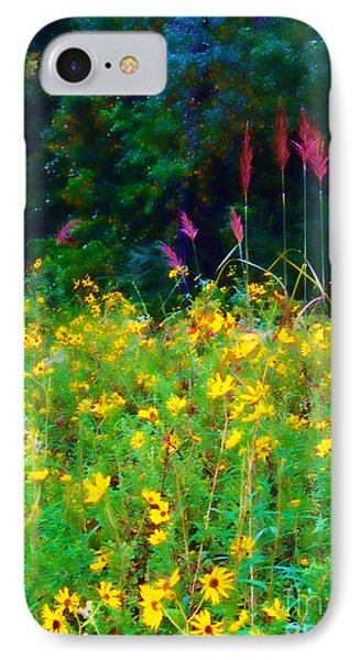 Sunflowers And Grasses Phone Case by Judi Bagwell