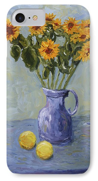 Sunflowers And Lemons IPhone Case