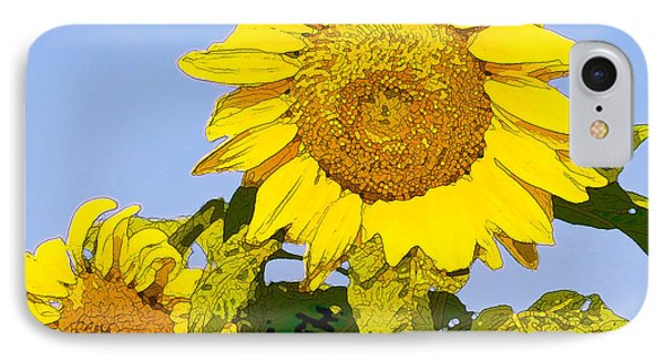 Sunflowers In Morning Phone Case by Artist and Photographer Laura Wrede