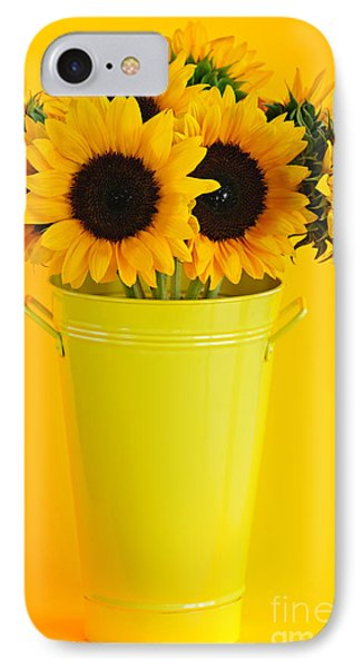 Sunflowers In Vase Phone Case by Elena Elisseeva