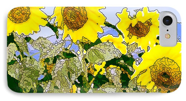 Sunflowers Sunbathing Phone Case by Artist and Photographer Laura Wrede