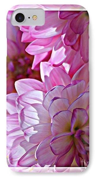 Sunlight Through Pink Dahlias Phone Case by Carol Groenen