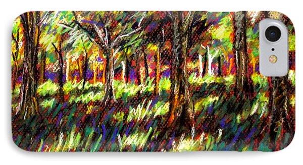 Sunlight Through The Trees Phone Case by John  Nolan