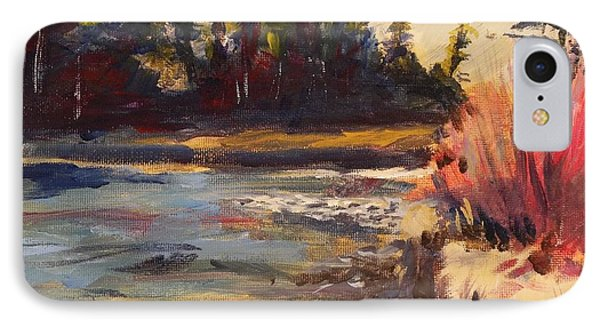 Sunny Colorado Wooded Stream Phone Case by Walt Maes