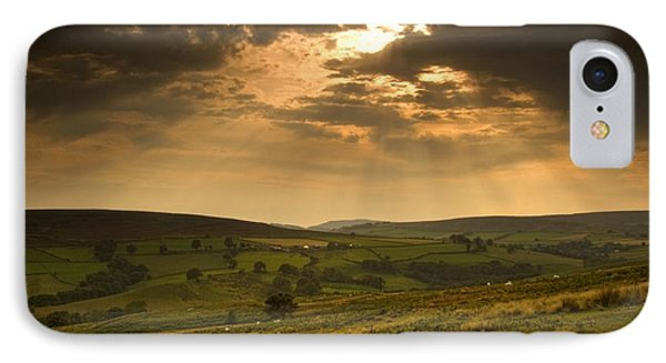 Sunrays Through Clouds, North Phone Case by John Short