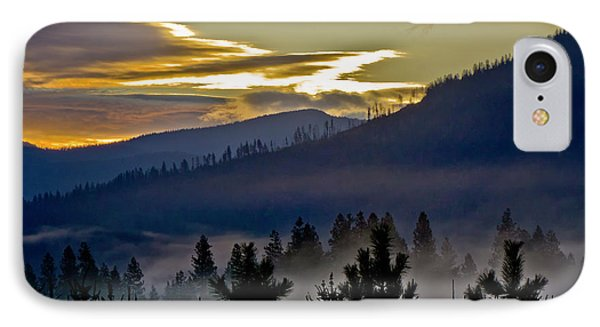Sunrise And Valley Fog IPhone Case by Albert Seger