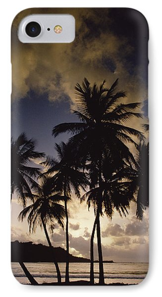 Sunrise At La Sagesse Bay Over Marquis Phone Case by Gerry Ellis
