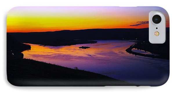 Sunrise At Wishram  IPhone Case by Jeff Swan
