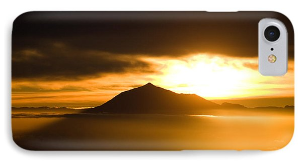 sunrise behind Mount Teide Phone Case by Ralf Kaiser