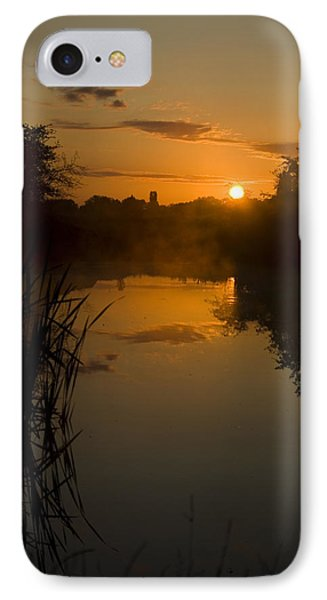 Sunrise By A Lake Phone Case by Pixie Copley