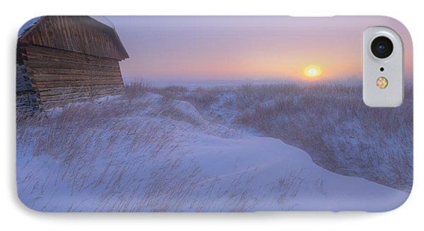 Sunrise On Abandoned, Snow-covered Phone Case by Dan Jurak