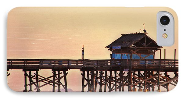 IPhone Case featuring the photograph Sunrise On Rickety Pier by Janie Johnson