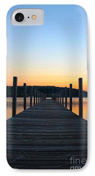 Sunrise On The Docks Phone Case by Michael Mooney