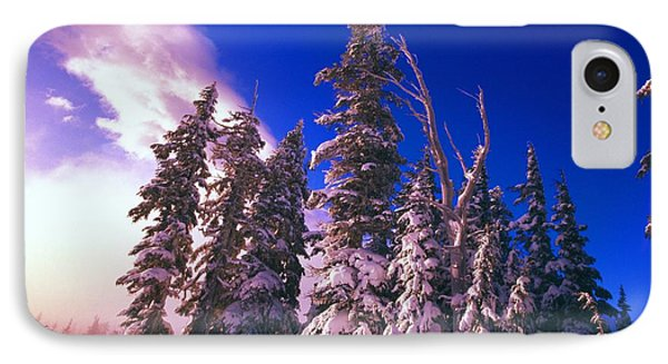 Sunrise Over Snow-covered Pine Trees Phone Case by Natural Selection Craig Tuttle