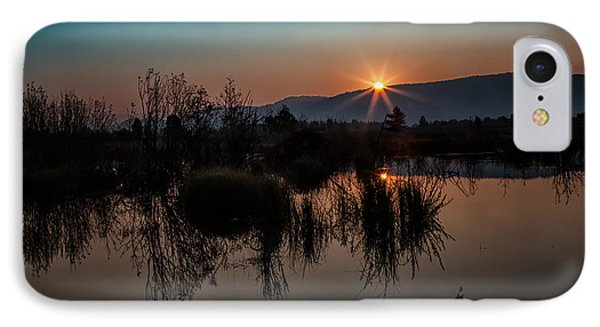 Sunrise Over The Beaver Pond IPhone Case by Ronald Lutz