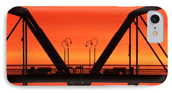 Sunrise Walnut Street Bridge Phone Case by Tom and Pat Cory
