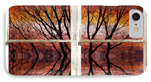 Sunset Abstract Rustic Picture Window View Phone Case by James BO  Insogna
