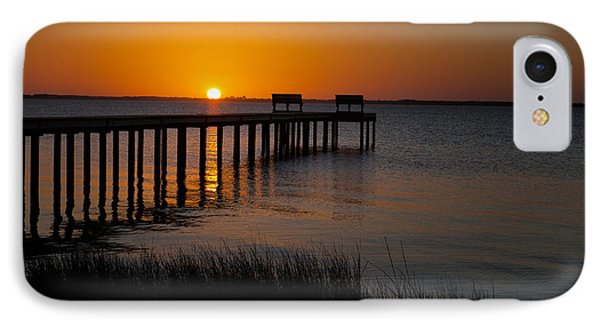 Sunset Across Currituck Sound IPhone Case by Ronald Lutz