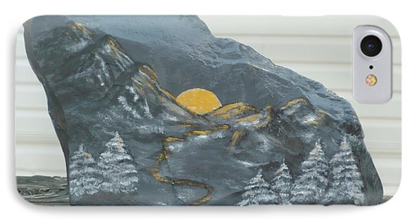 Sunset And Mountains Phone Case by Monika Shepherdson
