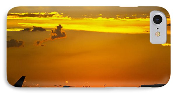 Sunset At Kci Phone Case by Lisa Plymell