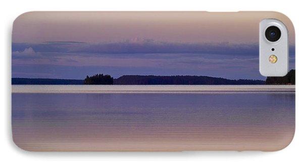 Sunset At Lake Muojaervi Phone Case by Heiko Koehrer-Wagner