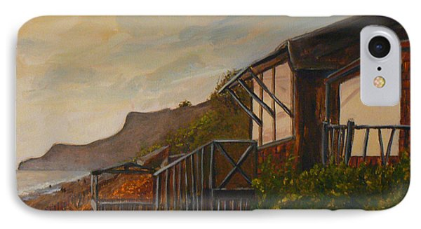 IPhone Case featuring the painting Sunset At The Beach House by Terry Taylor
