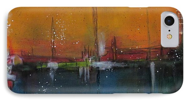 IPhone Case featuring the painting Sunset At The Lake # 2 by Nicole Nadeau