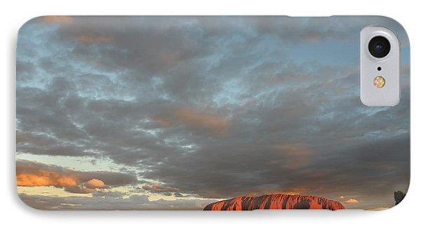 Sunset At Uluru Phone Case by Vivian Christopher