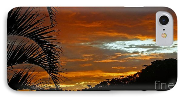 Sunset Behind The Palms Phone Case by Kaye Menner