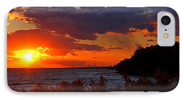 IPhone Case featuring the photograph Sunset By The Beach by Davandra Cribbie