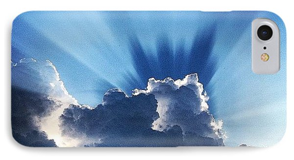 #sunset #clouds #weather #rays #light IPhone Case by Amber Flowers